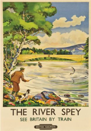 Moray Firth Scotland - Fishing on the River Spey